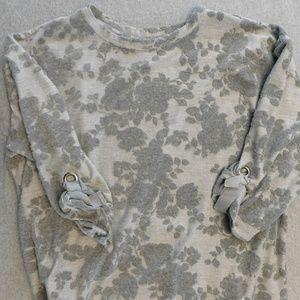 Grey, Vera Wang Floral print shirt